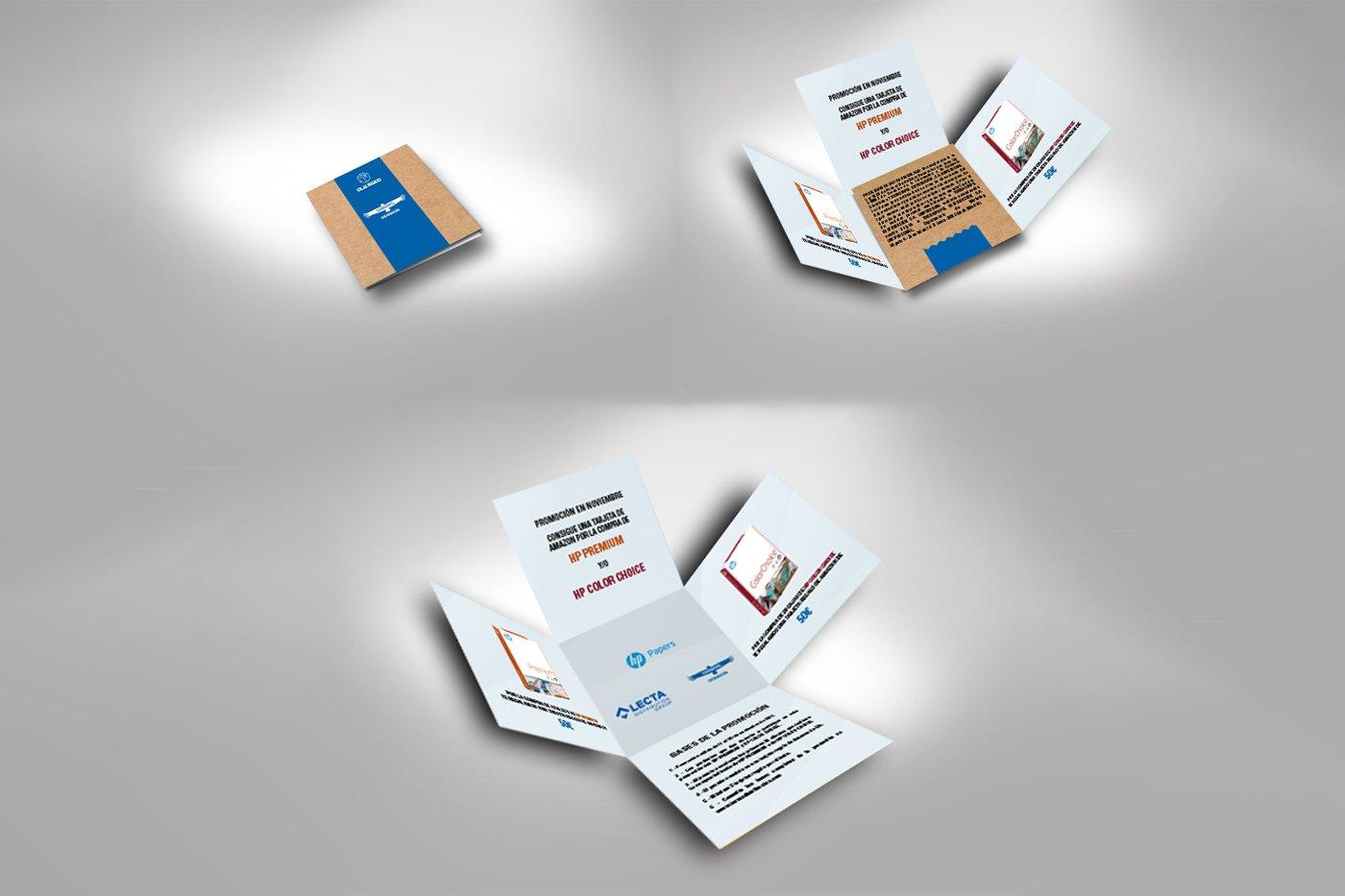 Design brochure promozionale ritaglio creativo