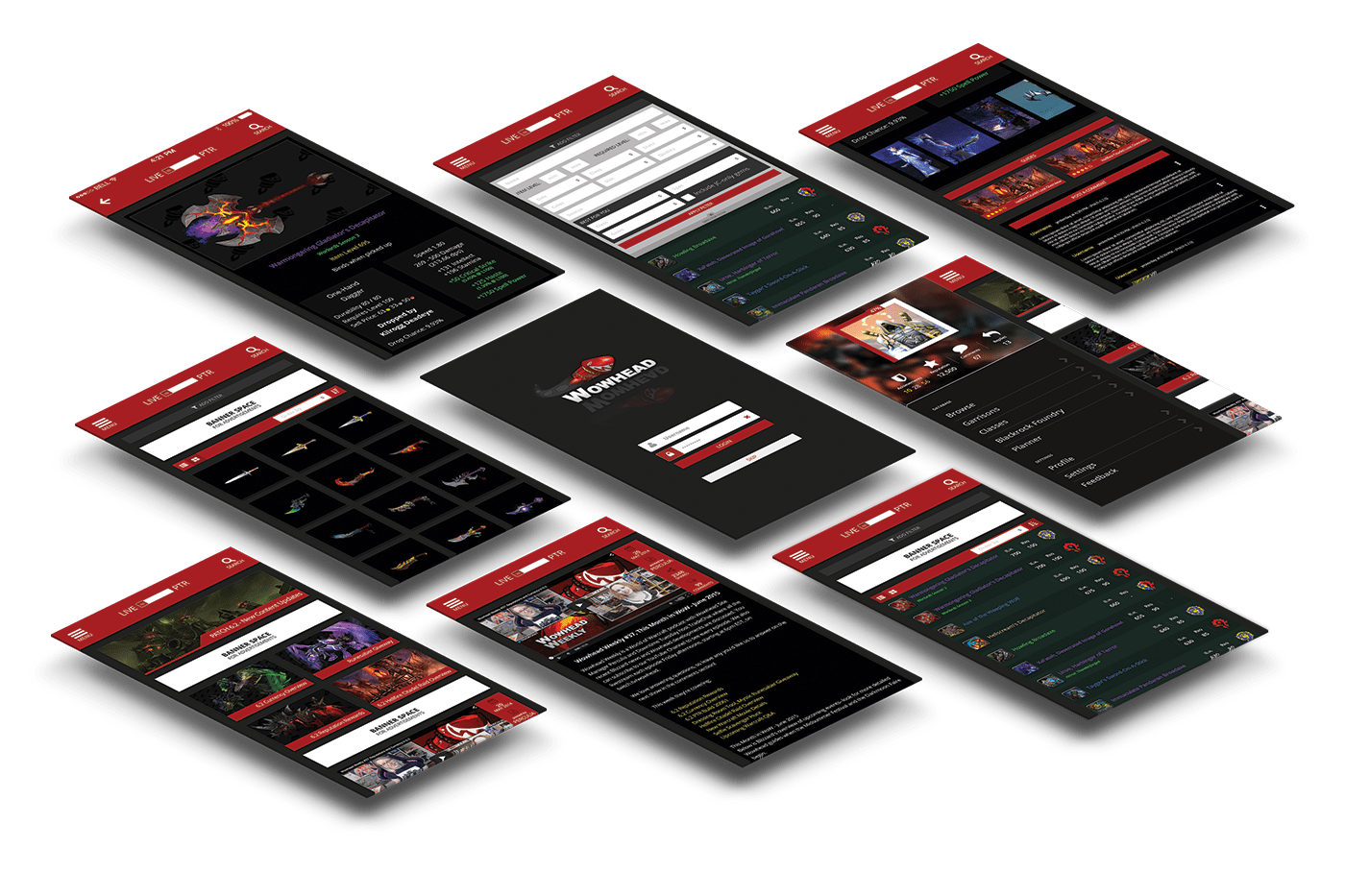 Concept design layout app Wowhead